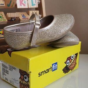 Gold dress shoes